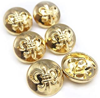 カッコイイ!ゴールドフレアーボタン6点セット 2サイズお取り扱い ハンドメイドパーツ ボタン (大)