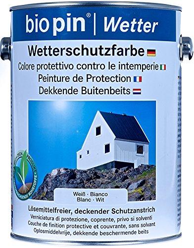 Biopin Wetterschutzfarbe - Weiß - 2,50 l
