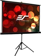 Elite Screens Tripod Pro Series, 119-INCH 1:1, Adjustable Multi Aspect Ratio Portable Indoor Outdoor Projector Screen, 8K / 4K Ultra HD 3D Ready, 2-YEAR WARRANTY, T119UWS1-PRO