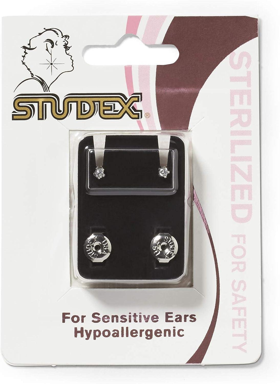 Studex Mini Cubic Zirconia Sterilized Piercing Earrings Stainless Steel