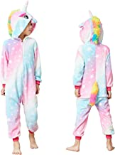 Kids Unisex Unicorn Costume Animal Onesie Pajamas Halloween Christmas Costume Gifts