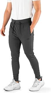 Men's Joggers (Hydrafit) Track Pants Men's Active Sports Running Workout Pant Zipper Pockets