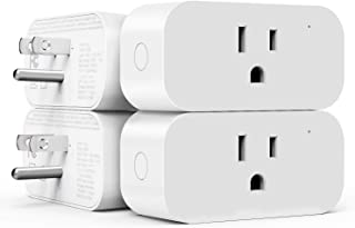 4 Pack Smart Plug, Treatlife 15 Amp Wifi Smart Outlet with Child Lock and Vacation Mode, Reliable WiFi Connection, Works with Alexa and Google Assistant, No Hub Required, Remote Control