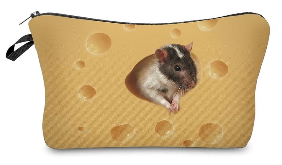 どちらも領事館溶接( 560kick ) チーズ と ネズミ 柄 ポーチ メイクグッズ 収納
