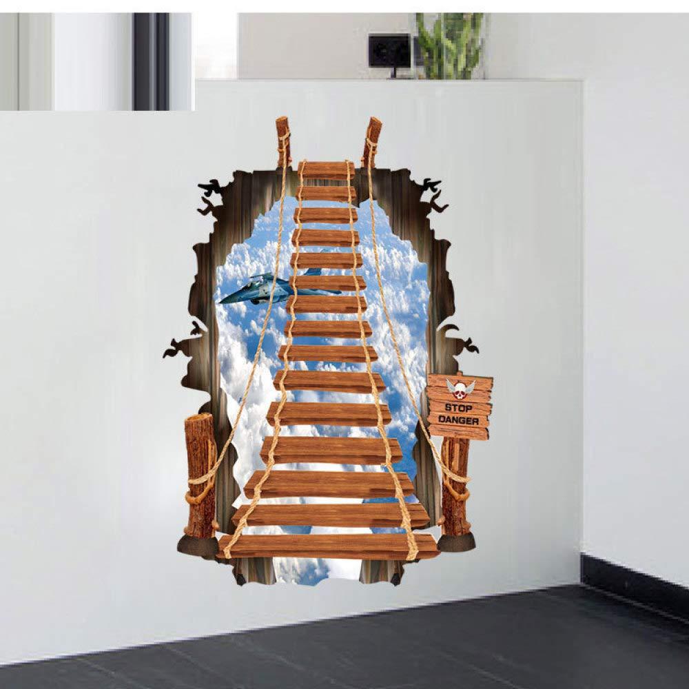 XCSJX Pegatinas de Pared 3D escaleras Moda Pegatinas de Pared Escalera Cielo Plano 60 * 90 cm: Amazon.es: Hogar
