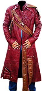 Star Lord Chris Pratt Guardians of The Galaxy Vol 1 Leather Trench Coat Jacket