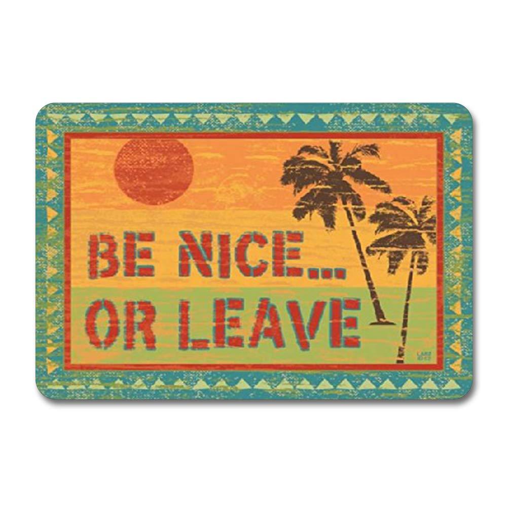 Señal de metal con texto en inglés «Be Nice or Leave Surfing and Tropical Decor para pared, estilo retro de calle, jardín rústico para hombres, decoración de pared, cocina: Amazon.es: Hogar
