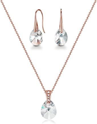 Mestige Jewellery Rose Gold Pascal Set with Swarovski® Crystals