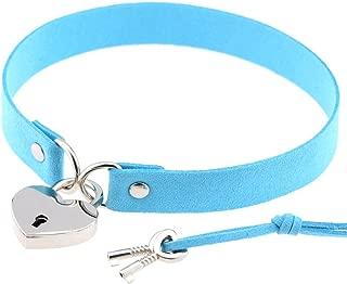 ACVIP Women's Heart Shaped Metal Locket Collar Choker Necklace with Keys