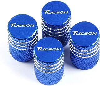 INNJIEW Aluminium New Wheel Reifen Ventile Reifenschaft Luftventil Kappen Auto Styling, Fit FüR Hyundai Tucson