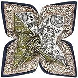 SLM-max Bufanda Mujer,Bufanda de Seda 60cm * 60cm Color de Seda Artificial a Juego Pequeña Flor de anacardo Señora Bufanda Cuadrada pequeña Diseño de Moda Bufanda de Seda (Color: Verde, Tamaño: 60cm)