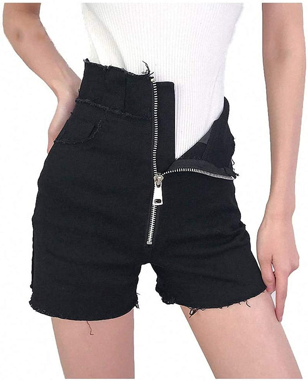 Tayaho Black Denim Shorts Women Streetwear Street Style High Waist Short Pockets Zipper Summer Shorts
