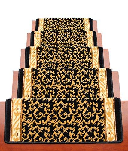 Scale Tappetino Pad 5 Pezzi,Ad Alta Densità Ispessito Stair Passaggio Pad, Autoadesivo Libero Antiscivolo In Gomma Mats Legno Scale Passo Tappeto Tappetini ( Colore : E , dimensioni : 100*24cm )
