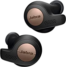Jabra Elite Active 65t Earbuds – True Wireless Earbuds with Charging Case, Copper Black – Bluetooth Earbuds with a Secure Fit and Superior Sound, Long Battery Life and More (Renewed)