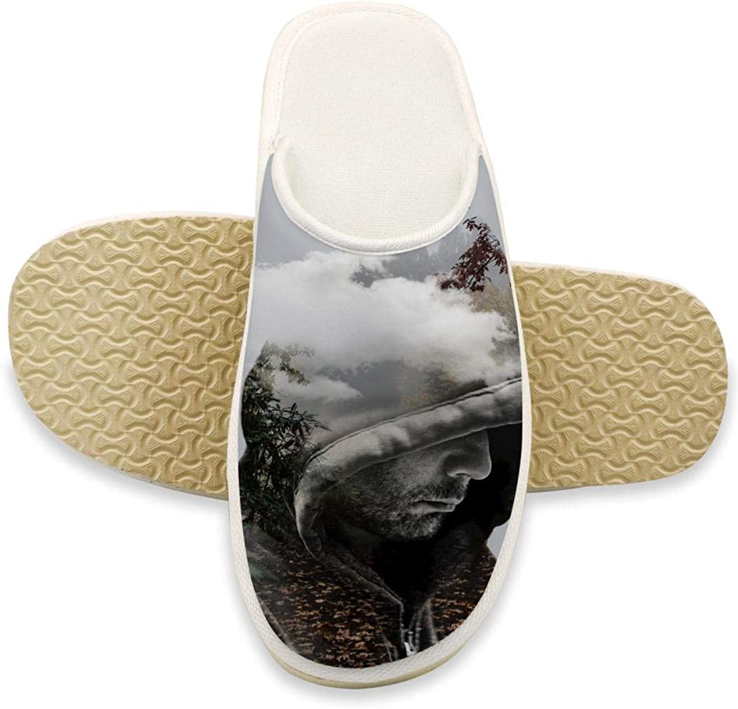 Women Men Indoor Slippers Home Warm Cotton Anti-Slip Shoes Velvet Shoes Sandals