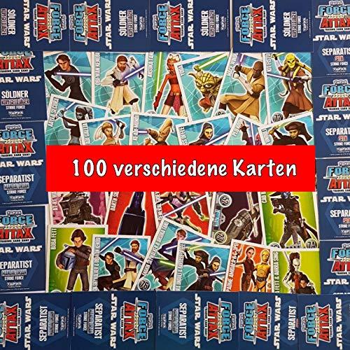 Force Attax Star Wars Serie 1 - 100 Verschiedene Karten - Sehr selten - ALLERERSTE Serie - Absolute Rarität