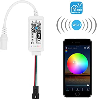ALITOVE WS2812B Controller Smart WiFi APP Control, Support Amazon Alexa Google Home, for DC5V 3 pin WS2812 SK6812 Addressable RGB Dream Color LED Pixel Strip Light (Not for 12V WS2811)