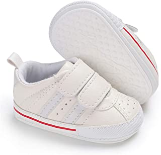 Meckior Fashion Baby Sneakers Infant Baby Boys Girls Soft Sole Prewalker Crib Casual Shoes White Size: 6-12 Months Infant