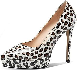 punto de venta de la marca VIVIOO Zapatos de tacón Alto Zapatos de Mujer Zapatos Zapatos Zapatos de Cuero Genuino Zapatos de Plataforma Poco Profundos seoras Zapatos de Vestido de Fiesta  los nuevos estilos calientes