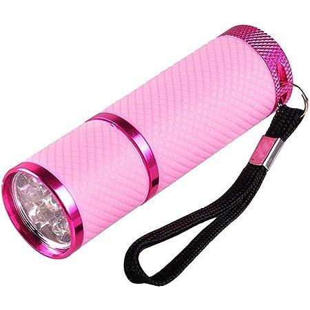 Mini torcia per lampada LED UV gel polimerizzante portatile per unghie con 9 LED 395 nm XuCesfs