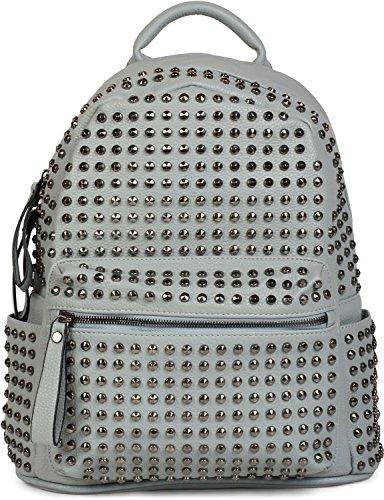 styleBREAKER zaino borsa a mano con borchie, chiusura a cerniera, borsa, da donna 02012226, colore:Blu chiaro