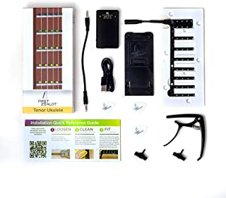 Fret Zealot LED Ukulele Learning Accessory - EASIEST and BEST Method to Learn To Play a Ukulele for All Levels, Fits TENOR...