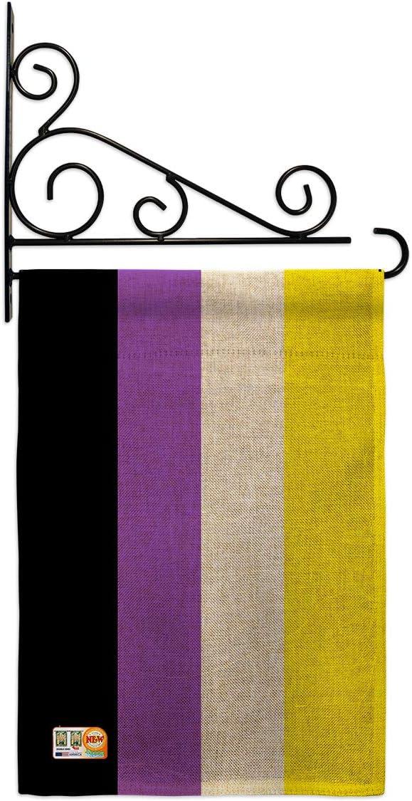 Pride Nonbinary Flag Garden Set Wall Love Holder Support ギフト Rainbow 引き出物