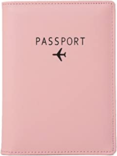 Passport Holder, RFID Blocking Travel Wallet, Document Organizer, High Quality Leather, (Black, Orange, Pink)