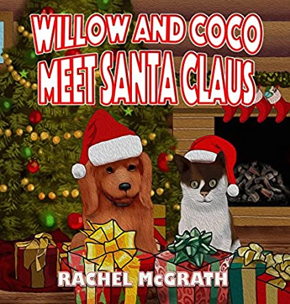 Willow and Coco meet Santa Claus