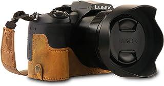 MegaGear Ever Ready Echtleder Kameratasche mit Trageriemen kompatibel mit Leica V Lux 5, Panasonic Lumix DC FZ1000 II