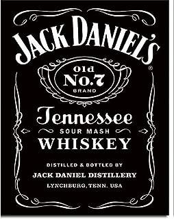 Signs 4 Fun SIG1995 Jack Daniel's Label Old #7 Metal Tin Sign, Black
