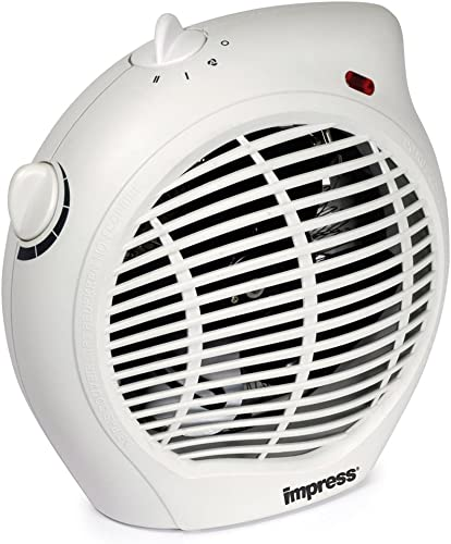 high quality Impress lowest IM-701 1500-Watt Compact Fan Heater sale with Adjustable Thermostat, White outlet sale