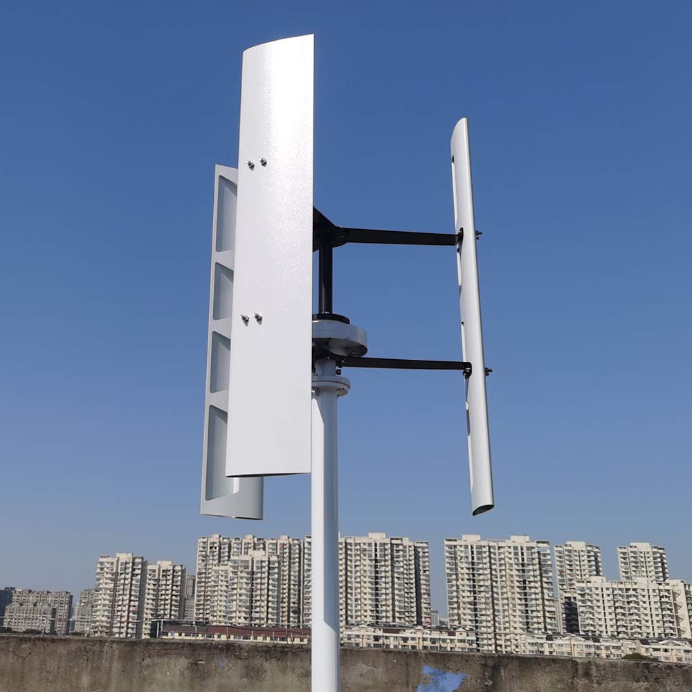 800 W vertical turbina de viento 12 V 24 V 48 V eje permanente Maglev viento generador con controlador MPPT (48 V con controlador MPPT)