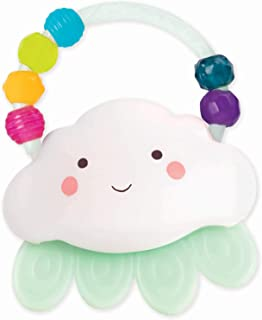 B. toys by Battat – Rain-Glow Squeeze – Light-Up Cloud Rattle for Babies 3 Months +