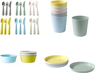 طقم أدوات مائدة من 36 قطعة، ألوان متنوعة من ايكيا
