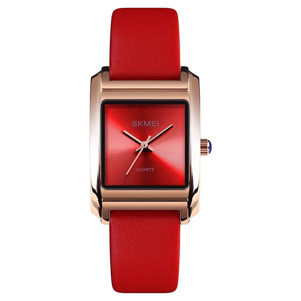 Women's Business Watch, Fashion Ladies Wrist Watch, Elegant Waterproof Quartz Analog Dress Watches with Leather Band Square Dial nupl2306588772
