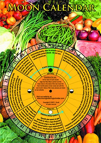 Laminated Perpetual Lunar Moon Calendar Planting Guide Double-sided   Sustainable - Buy Once, Use Year after Year 365   The Micro Gardener