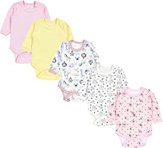 NAME IT Baby Mädchen 5er-Pack Set langarm Bodys Bio-Baumwolle Strampler Bodies