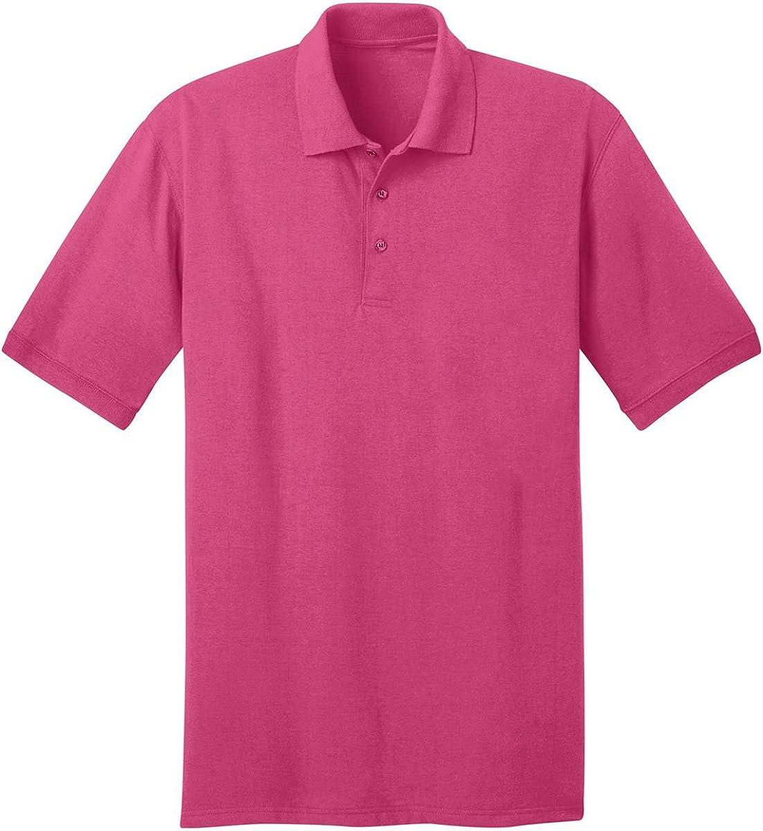 Port /& Company Mens Tall 55 Ounce Jersey Knit Polo