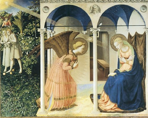 The Annunciation- Fra Angelico - CANVAS OR FINE PRINT WALL ART