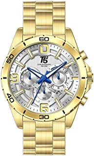 T5 Casual Watch For Men Analog Stainless Steel - H3521G