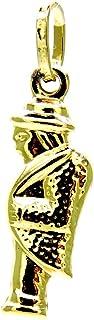 Ciondolo Oro Giallo 18kt (750) Pendente Gobbo Gobbetto Portafortuna Uomo Donna Bambini