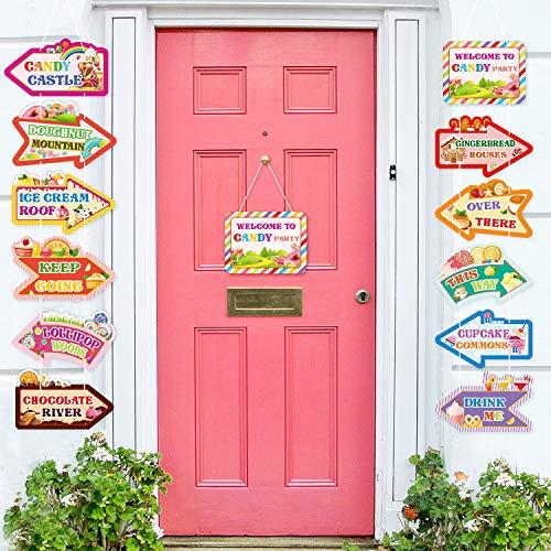 Süßigkeiten Party Gefallen Süßigkeiten Richtung Zeichen Land Party Dekoration, Süßigkeiten Pfeil Zeichen Lutscher Ausschnitte Dekoration für Kinder EIS Geburtstag Party Sommer Bulletin Board
