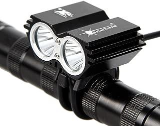 1 Pcs Sublime Popular Style 4-Modes 2xLED Bike Lights 5000 Lumen Bicycle Lamp Headlight Flashlight Colors Black