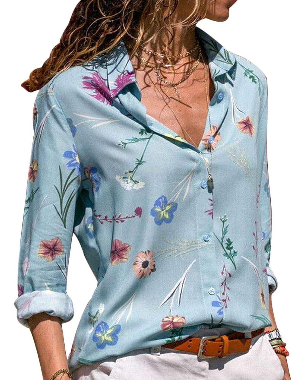 Plus Nao(プラスナオ) シフォンシャツ 長袖 前開き ボタン レディース トップス 花柄 フラワー おしゃれ きれいめ 可愛い かわいい 女性用