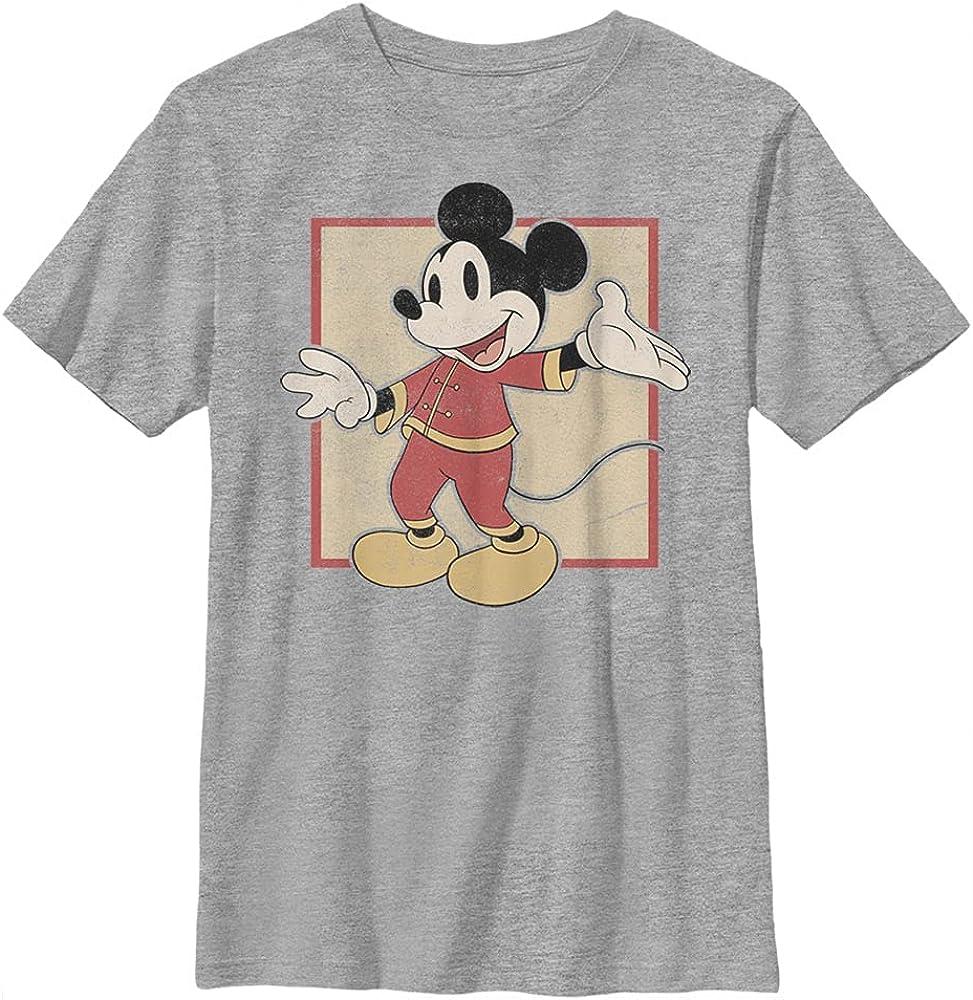 Disney Characters Chinese Mickey Boy's Heather Crew Tee