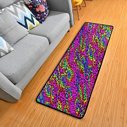 Mnsruu Rainbow Zebra Animal Print Collection Alfombra para salón, dormitorio, cocina, 61 cm x 182,88 cm (2 x 6 pies)
