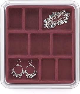 Neatnix Jewelry Stax 9 Compartment Organizer Tray, Rose