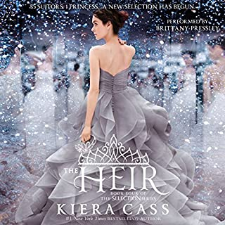 The Heir                   By:                                                                                                                                 Kiera Cass                               Narrated by:                                                                                                                                 Brittany Pressley                      Length: 8 hrs and 48 mins     3,489 ratings     Overall 4.3
