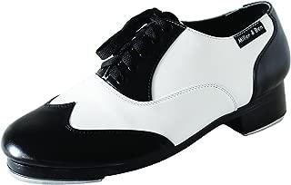 Tap Shoes; Jazz-Tap Master; Black & White - Wide Sizes